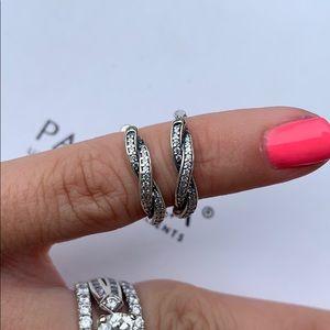 Authentic Pandora hoop earrings